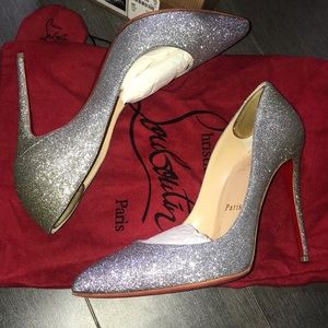 Louboutin Pigalle Follies Glitter Degrade